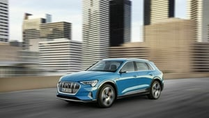 The e-tron has a price tag of €101,750 before grants.