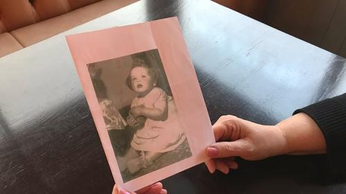 Tuam Mother and Baby Home survivor Teresa O'Sullivan as a baby