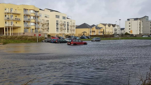 Flooding in Galway after Storm Erik in February 2019. Photo: Pat McGrath
