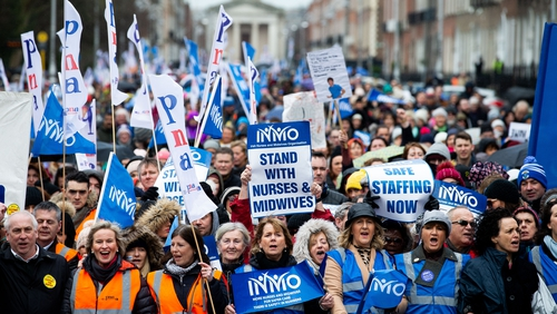 The INMO said the rally showed the level of public support for the nurses in their dispute