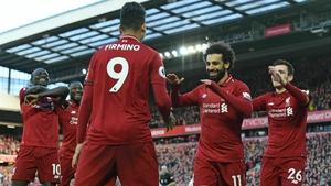 Mo Salah celebrates his goal