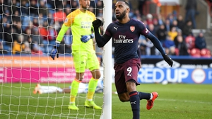Alexandre Lacazette scored Arsenal's second