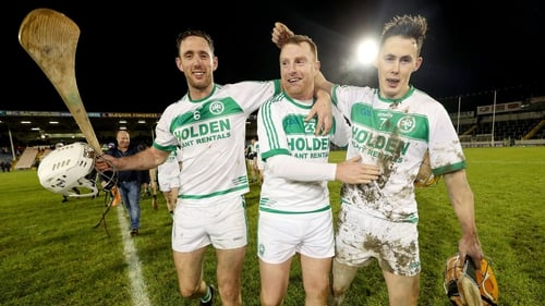 Michael Fennelly, Mark Aylward and Richie Reid celebrate after the game