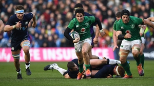 Joey Carbery responded well to a mistake that led to a Scotland try