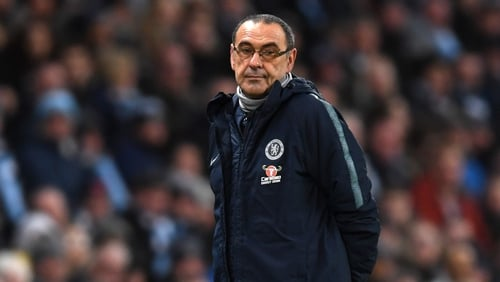 "Chelsea manager Maurizio Sarri: ""I think we started well then we conceded the goal after four minutes in a stupid way"""