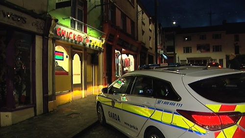 The man was socialising with friends in the town when he was involved in an altercation outside a fast-food outlet