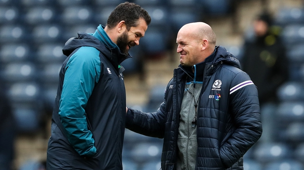Farrell and Townsend share a word in Edinburgh