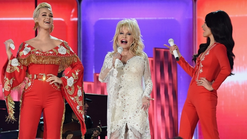 Katy Perry, Dolly Parton and Kacey Musgraves at the 2019 Grammy Awards