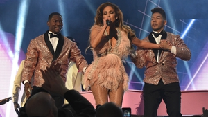 Jennifer Lopez performs at the 2019 Grammy Awards