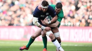 Ryan Wilson is tackled by Johnny Sexton in Scotland's defeat to Ireland at BT Murrayfield