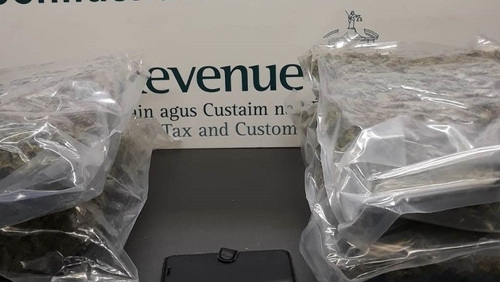 The drugs were found concealed in a parcel labelled as 'clothing'