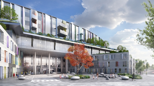 An artist's impression of part of the proposed National Children's Hospital in Dublin