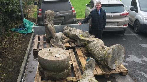 A member of the public found the four statues near a derelict outhouse on lands near Cratloe, Co Clare, and contacted gardaí