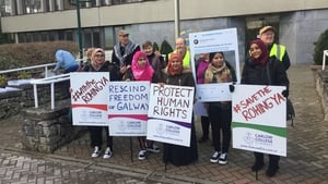 Members of the Rohingya Action Ireland group have been lobbying for Aung San Suu Kyi's award to be rescinded