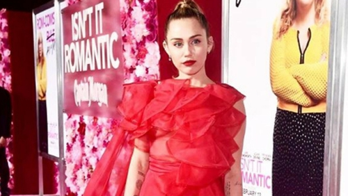 Miley Cyrus posted several pictures on Instagram of the red carpet premiere, picture via Miley Cyrus/Instagram