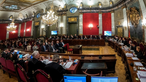 The 12 people on trialinclude formerCatalangovernment officials