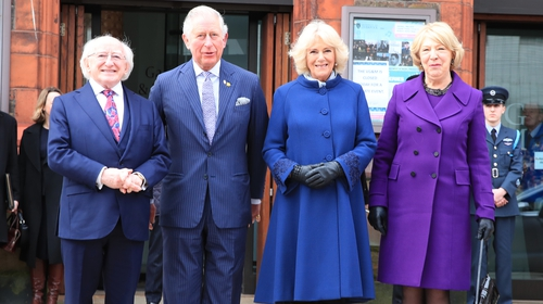 President Higgins, Prince Charles, his wife Camilla and Sabina Higgins met at the Victoria Gallery and Museum