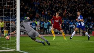 Nicole Zaniolo scores his second goal against Porto in Rome this evening
