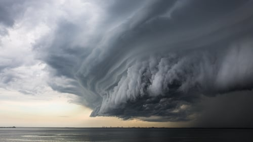 Thunderstorms can create a cosy, secluded feeling in us
