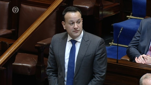 Leo Varadkar said the decision on relocating funding was not made until this week