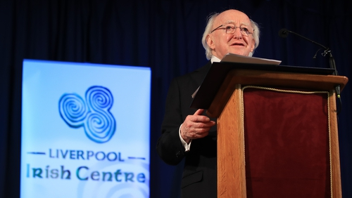 President Higgins called for the UK and Ireland to build on their links