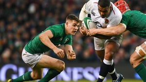Garry Ringrose injured his hamstring against England