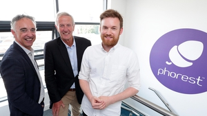 John Phelan, Director, HBAN, with Pat Garvey, angel investor, and Ronan Perceval, chief executive of Phorest