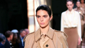 Model Kendall Jenner on the catwalk during the Burberry London Fashion Week SS19