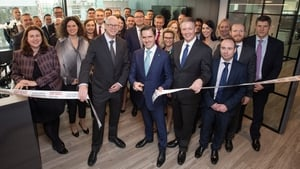 David Gordon, Country Head Ireland at S&P Global Ratings; Martin Shanahan, CEO of IDA Ireland and John Berisford, President of S&P Global Ratings at the new Dublin offices