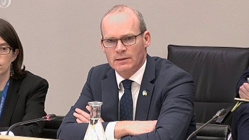Simon Coveney is addressing the Foreign Affairs Committee