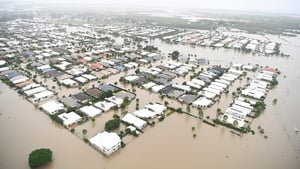 Torrential rain led to Townsville in Queensland being badly flooded