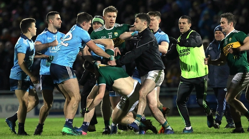 Tempers flared at the final whistle in Tralee