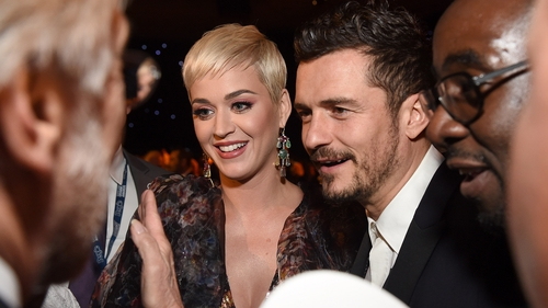 Katy Perry and Orlando Bloom at MusiCares Person of the Year last week
