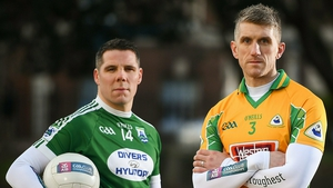 Gaoth Dobhair's Kevin Cassidy and Kieran Fitzgerald of Corofin