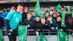 Sexton meets the fans at an open day at the Aviva Stadium on Friday