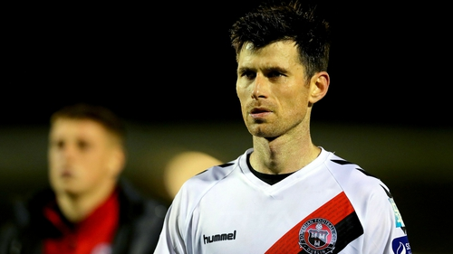 Dinny Corcoran scored 12 league goals last season and opened his account in the league opener against Finn Harps