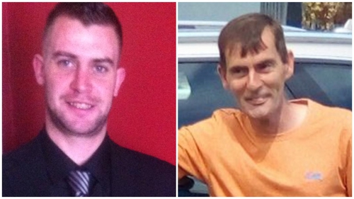 Noel Leeson (L) and Anthony Keegan (R) have been missing since 3 February