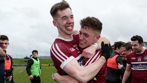 St Mary's Caolan Dillon and Liam Rafferty celebrate