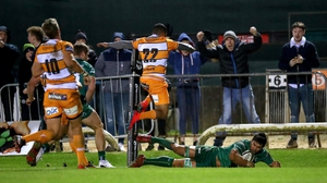 Jarrad Butler scores the insurance score with two minutes left against Cheetahs in the Sportsground