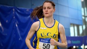 Ciara Mageean in action at the Sport Ireland National Indoor Arena