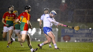Waterford's Stephen Bennett fires home a goal against Carlow in Fraher Field