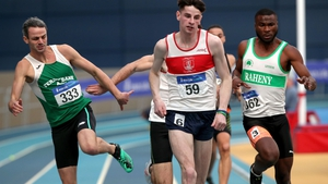 Thomas Barr and Andrew Mellon came together in the 400m final