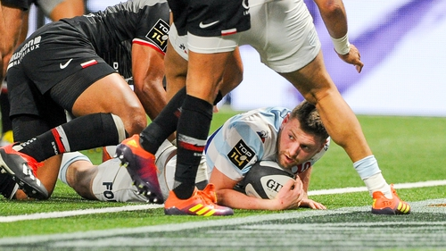 Finn Russell in action against Toulouse