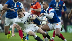 Chris Ashton in action against France during this year's Six Nations