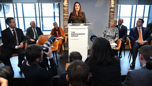 Luciana Berger made the announcement that seven Labour MPs were resigning