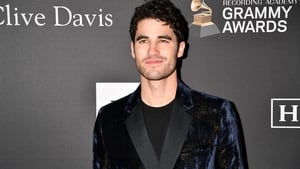 Darren Criss pictured at Pre-Grammy party