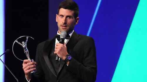 Djokovic, Biles, Woods dominate Laureus awards