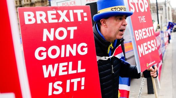 Anti-Brexit Britons hit Irish pub in Brussels to watch vote