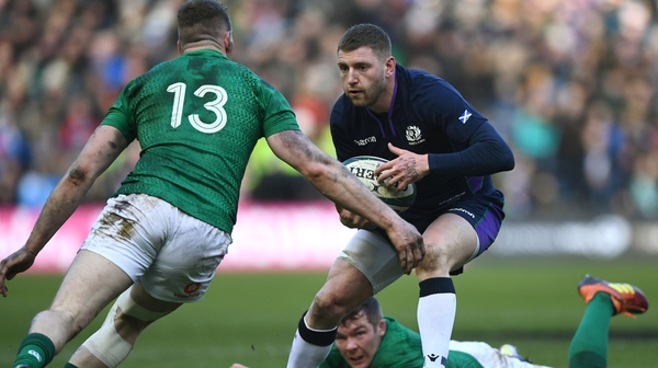 Finn Russell in action against Ireland last year