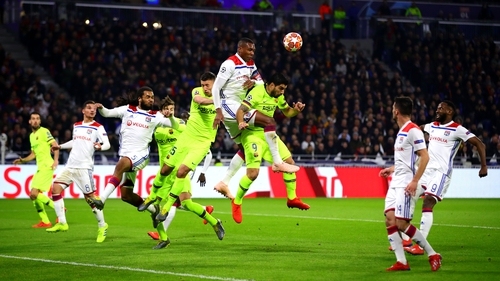 Lyon and Barcelona played out a goalless draw